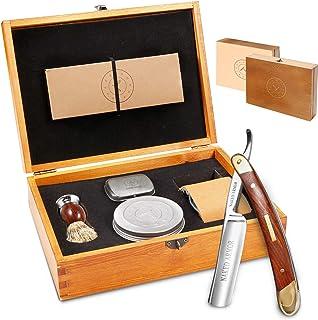 Amazing Straight Razor Kit - Best Straight Razor,Shave Ready Straight Edge Razor,Brush,Strop + Soap,Japanese Steel + Bibli...