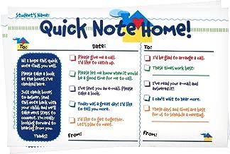 Teacher Peach Quick Notes Home Checklist to Parents - Classroom Teaching Supplies for Preschool, Kindergarten, or Elementary School Teachers with Carbon Copy - 50 Tablets