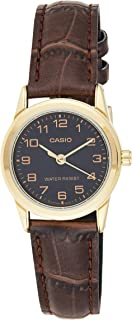 Casio Watch For Women Analogue Quartz Ltp-V001Gl-1B, Brown Band