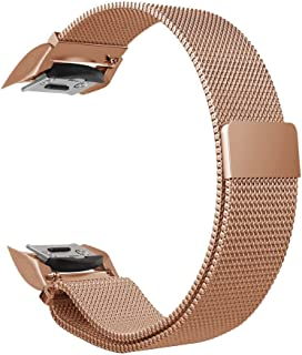 ZGS Compatible with Gear S2 Watch Bands, Accessories Stainless Steel Loop Strap Bracelet Adapters Replacement for Gear S2 Smart Watch SM-R720 R730 (Rose Gold, Small)
