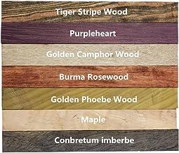 Lot de 5 feutres vierges en bois de bricolage 15 mm x 15 mm x 127 mm