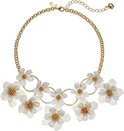 Floral Mosaic Statement Necklace