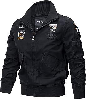 Giacca da Uomo Autunno Militare in Cotone Inverno Transition Taglie Comode Bomber Giacca Militare all Aperto Cappotto Moda...