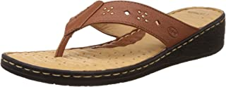 Scholl Women's Multi Rivet Thong Leather Slippers