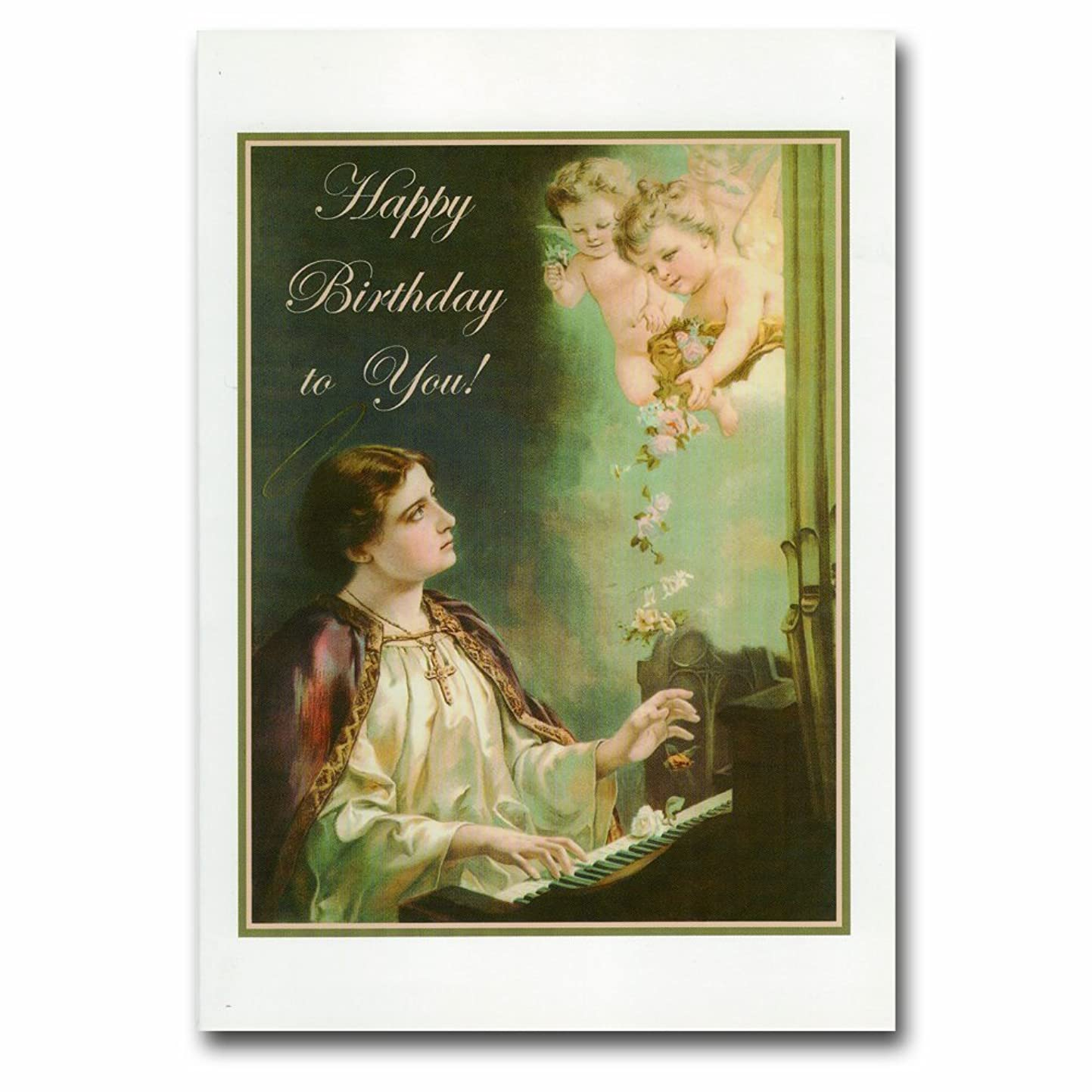 Holy note card (Large Hard)- St. Cecilia(Birthday!)