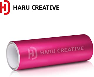 Haru Creative Satin Matte Chrome Vinyl Wrap Air Release Grade Film Wrap Roll - Pink - 12