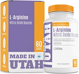 L-Arginine Nitric Oxide Booster, Best Muscle Growth Formula with Essential Amino Acids to Build Muscle and Increase Energy...