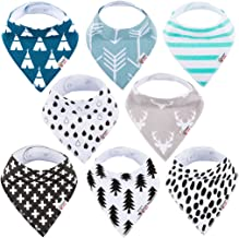 4 Pack Baby Bandana Drool Bibs with 3 Adjustable Snaps of Drooling Teething Feeding,Super Absorbent Cotton Lining For Boys and Girls Newborn Infant Toddler Baby Gifts G01