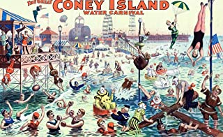 Wooden Jigsaw Puzzle - The Great Coney Island Water Carnival - 500 Wooden Pieces by Nautilus Puzzles