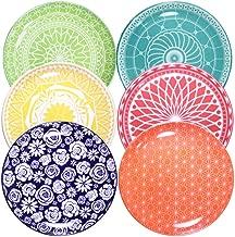 Annovero Dinner Plates, Set of 6 Porcelain Plates, 10.5 Inch Diameter