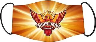 Vista IPL Team Sunrisers Hyderabad Mask -Cotton Reusable Washable Mask Size 20x13 cms with adjustable ear loops