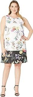 Adrianna Papell Women's Plus Size Garden Boarder Shift Dress