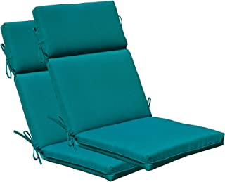SewKer] Indoor/Outdoor PatioTop Quality High Back Chair Cushion(Teal)