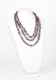 CROCHETLACES Handmade Lightweight Crochet Rope Scarf Necklace- Americana