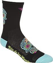 Defeet Aireator Sugar Skull Hi-Top 5in Sock Neptune, L - Men's