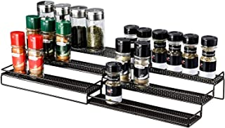 "Veesun Expandable Spice Rack Organizer for Cabinet Kitchen Countertop Pantry,Standing Spice Organizer,Adjustable Wide(12.6"" to 25""),Bronze."