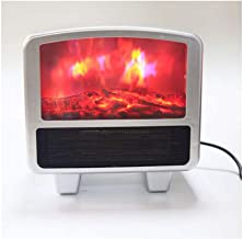 Mini Flame Heater Fan Heater Desktop Flame Heater Space Heater Flame Heater - Fast and Easy Heating Anywhere White -20 * 3...
