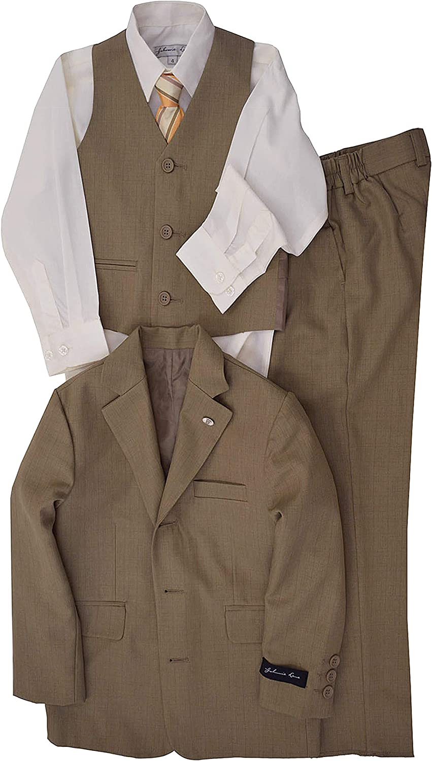 Johnnie Lene Natural Color Textured Suit from Baby Max 49% OFF for Set Spasm price Boys