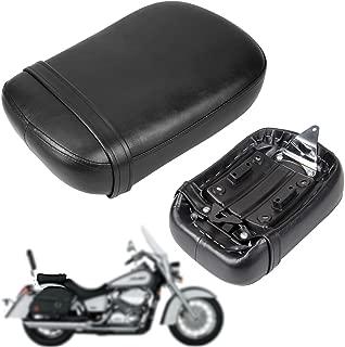 Iglobalbuy Black Rear Pillion Passenger Seat For 1998-2003 HONDA Shadow ACE VT750 VT750C VT750CD