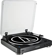 Audio Technica AT-LP60BK-BT Fully Automatic Bluetooth Wireless Belt-Drive Stereo Turntable Black (Renewed)