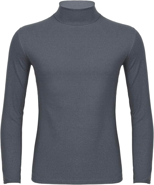 WinChang Men's Pullover Long Sleeve T-Shirt Mock Turtleneck Thermal Undershirt Underwear