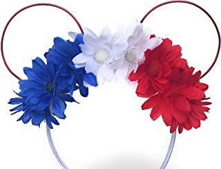 Red, White, Blue Minnie Mouse Ears headband