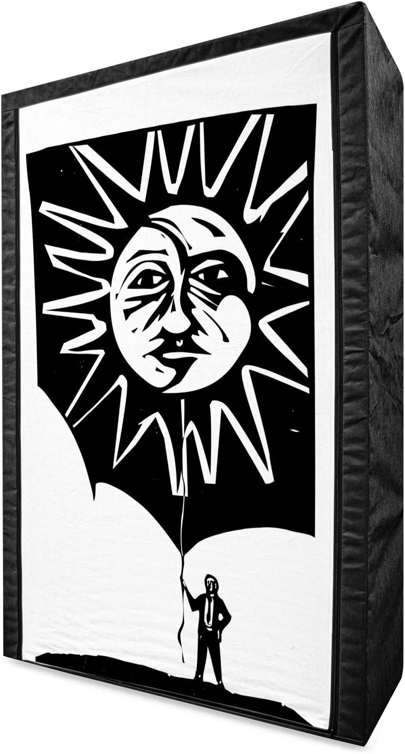 Ambesonne Sun and Moon Portable Inexpensive Fabric Monotone Abstra Wardrobe Great interest