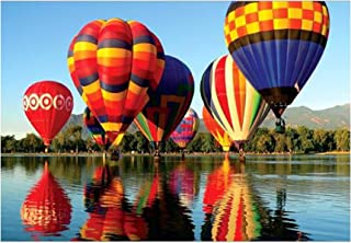 DIY Puzzles Education Toy 1000 Piece Jigsaws Landscape Large Puzzle for Adults & Children,Every Piece is Unique (Hot air Balloon)