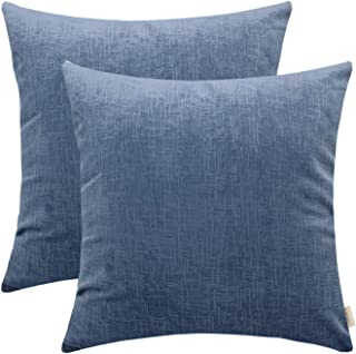 MOCOFO Mudcloth Velvet Pillow Cover,20x20 Pack of 2,Large Plaid Decorative Blue Accent Couch Throw Pillow Covers Super Soft Faux Fur Striped Plush Shams Sofa Cushion Cover Cases for Couch Car Office