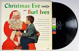 BURL IVES Christmas Eve With Decca DL 8391 LP Vinyl VG Cover VG