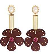 Kate Spade New York - Blooming Bling Leather Linear Earrings