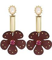 Kate Spade New York - Blooming Bling Leather Linear Earrings