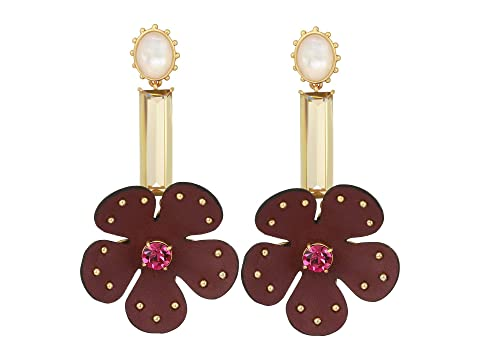 Kate Spade New York Blooming Bling Leather Linear Earrings