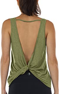 Workout Tank Tops for Women - Open Back Strappy Athletic Tanks, Yoga Tops, Gym Shirts