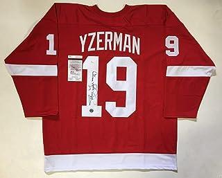 b968ba6a446 Autographed Steve Yzerman Jersey - Xl Pro Style W Coa #u59590 - JSA  Certified -