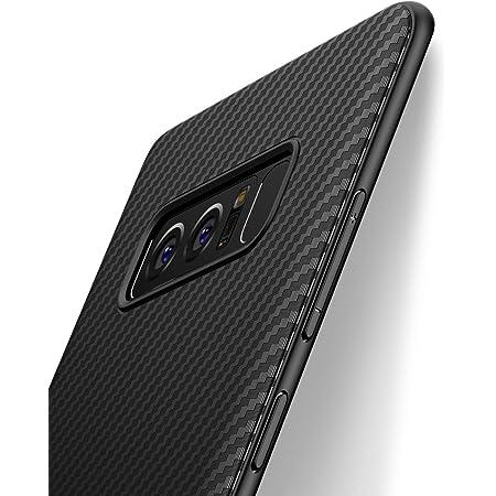 Coque Samsung Galaxy Note 8, J Jecent [Fibre de Carbone] Silicone TPU Souple Bumper Case Cover de Protection Premium Non Slip Surface Housse Etui ...