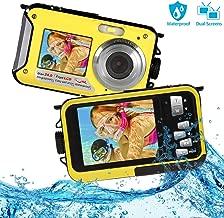 Underwater Camera Waterproof Camera with 24MP Waterproof Digital Camera Camcorder Full HD 1080P Underwater Digital Self Shot Dual Screen DV Recorder