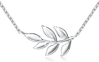 S925 Sterling Silver Olive Leaf Necklace Bracelet Lotus Choker Necklace for Women Lady