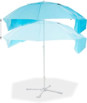 Monty LOLAhome Sombrilla de Playa Plegable Azul de Nylon de ...