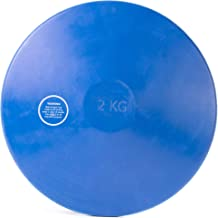 2kg Rubber Practice Discus | Mens & College Regulation Official Weight | Indoor & Outdoor, Blue Non-Marking Rubber | Track & Field Competition Training | Coaching Equipment for Strongman Events
