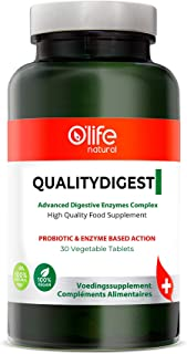 O'Life Natural's QualityDigest - Powerful Formula with 15 types of Digestive Enzymes - Natural Support with...