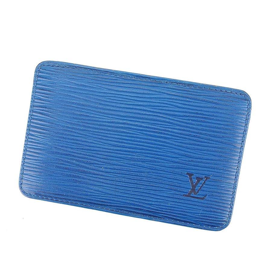 誤因子タヒチ(Louis Vuitton) ルイ ヴィトン カードケース 名刺入れ レディース メンズ ポルト カルト?サーンプル エピ 中古 C3537
