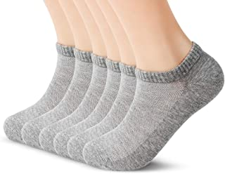 JINROZ Cotton Low Cut Socks for Men & Women, Invisible No Show Ankle Socks for Everyday Use & Sports/Athletic - 6 Pairs-Wh...