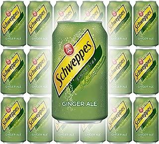 Schweppes Ginger Ale Soda, 12 Fl Oz Can (Pack of 18, Total of 216 Oz)
