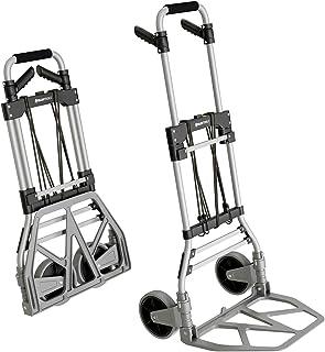 ATHLON TOOLS Carretilla plegable de aluminio para cargas pesadas | Grandes ruedas de marcha suave con bandas de rodadura b...
