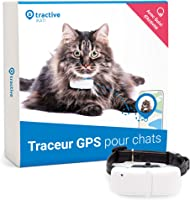Tractive collier GPS pour chat, Suivez-le partout, Suivi GPS 24h/24 et historique 365-jours