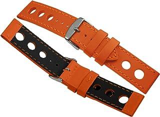 Davis - Bracelet Montre Racing Rallye Cuir Perforé 24mm Haute Qualité
