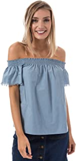 Brave Soul Blouse for Women - Light Blue LWT432ANDREADNM168