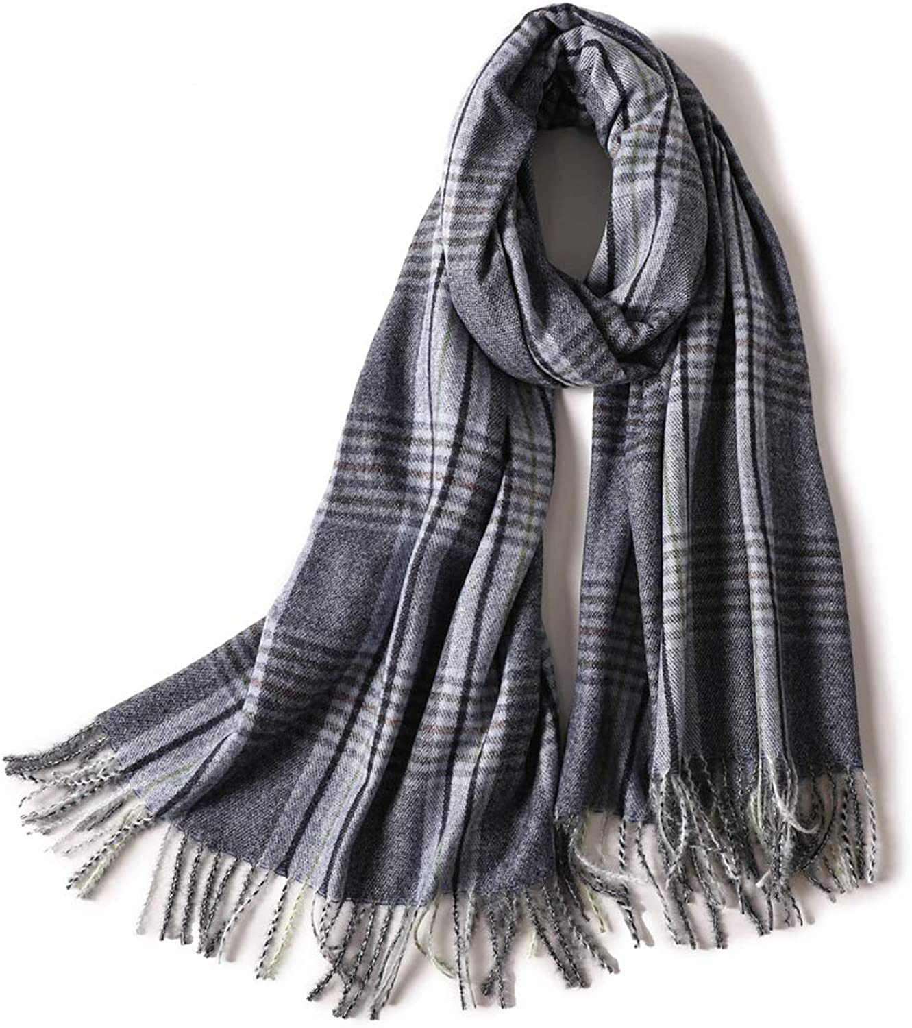Cashmere Feel Winter Scarf For Women Super Soft Warm Plaid Pashmina Shawls Wraps