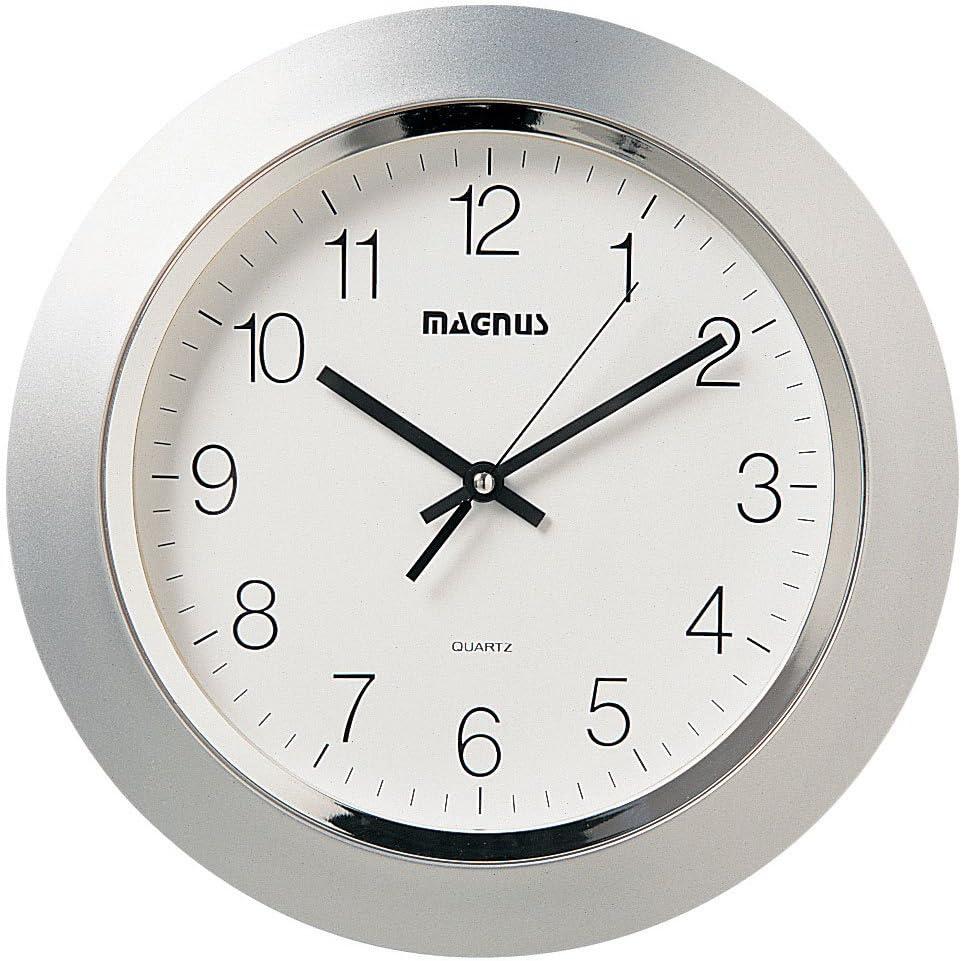 Dainolite 29012-MT-SV Quartz Clock with S 14-Inch Face Plastic Max Super beauty product restock quality top! 65% OFF